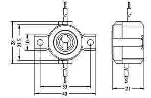 MCSK2 halogen lamp socket for e11 mini candelabra halogen
