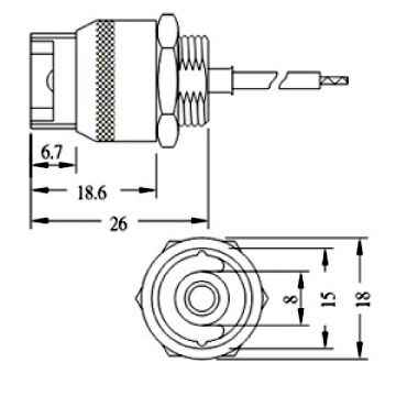 LSE1 halogen lamp socket for RS7 recessed contact double