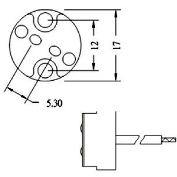 LVS1 halogen lamp socket for bipin halogen bulbs