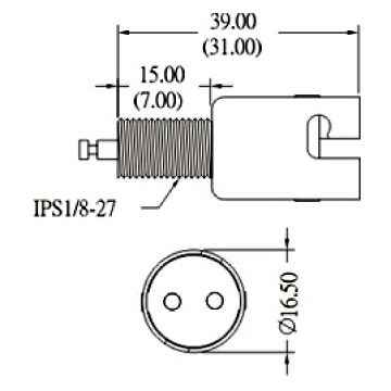 DCSK1 halogen lamp socket for BA15D DC Bayonett halogen bulbs