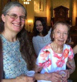 Long-time UHC member Estelle Corrigan (right) passed away April 2