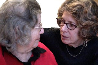 Louise and daughter Nancy share a moment...