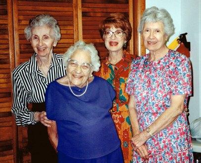 From left: Jessie Frandzel, Fannie Ellinger, Sunny Cohen, Bess Einstandig.