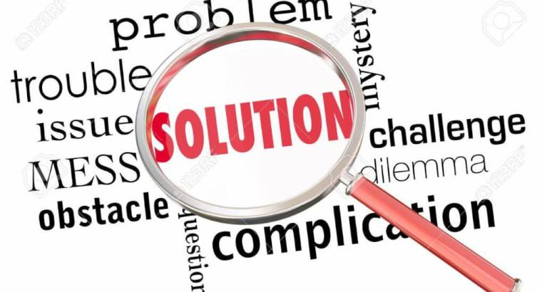 Solution Solve Problem Issue Resolution Find Fix Magnifying Glas