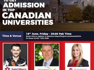 Free Seminar-Study in Canada