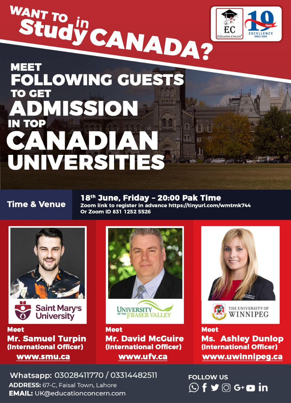 Free Seminar Study in Canada