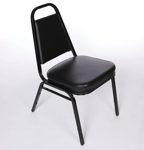 stackable padded chairs indoor rattan chair with ottoman black stacking united rent all omaha
