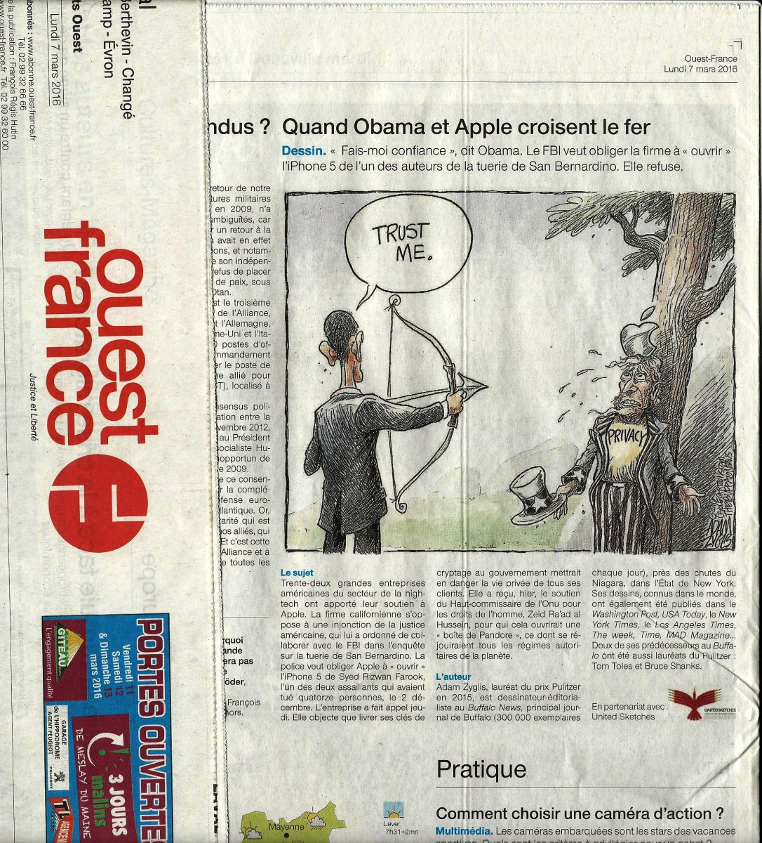 Partnership with Ouest-France the biggest French Newspaper