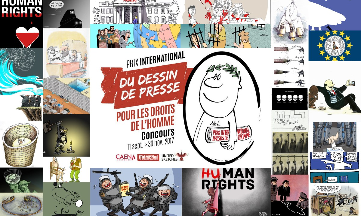 "Selected Cartoonists for the ""Prix Mémorial"" 2018"