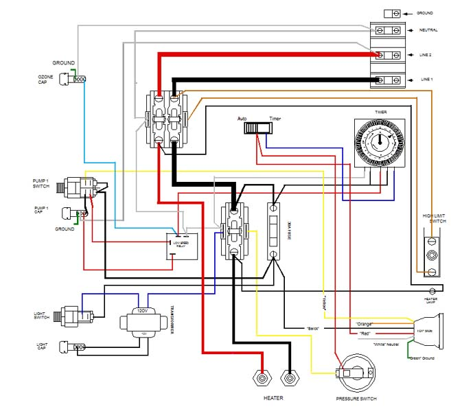 Wiring Diagram For A Hot Tub Pump : Jacuzzi pump motors wiring diagrams heater element