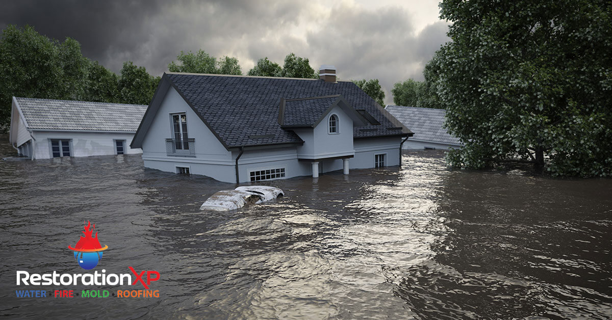 Emergency flood damage restoration in Allen, TX
