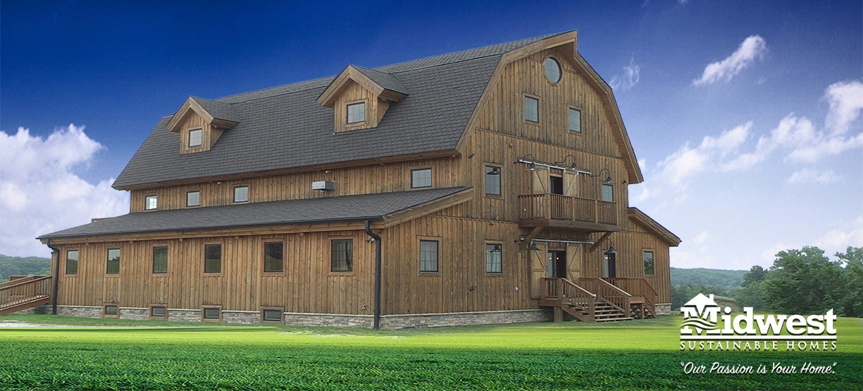 Custom built barn homes in Warren County