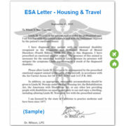 ESA Letter for Airlines & Housing