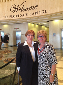 Nancy Zimmerman & Susan Greene, members of the Success By 6 Council, attended the first trip to advocate for early learning causes.