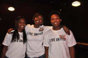 Interns Alicia Clark, Anjalonette Wright, and Craig Chalmers at the United Way Touchstone event.