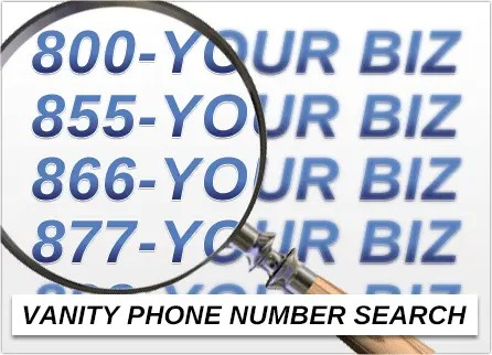 conduct a vanity telephone number search free with unitel voice
