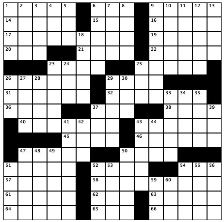 The correct crossword puzzle from the March 24, 2011 issue