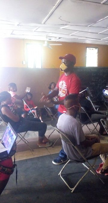 UDS Vocational Students Share With Each Other