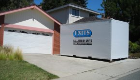 Portable Moving container in front of san ramon house.