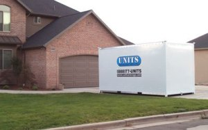 UNITS in driveway for holiday decoration portable storage