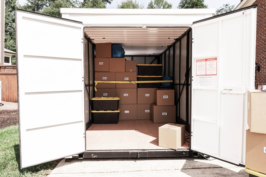 Easy loading UNITS portable storage container.