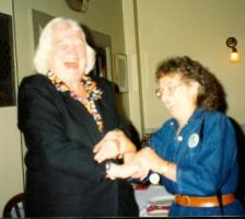 Mary Jane Smith and long time staffer, Jean Cavallo, share a laugh