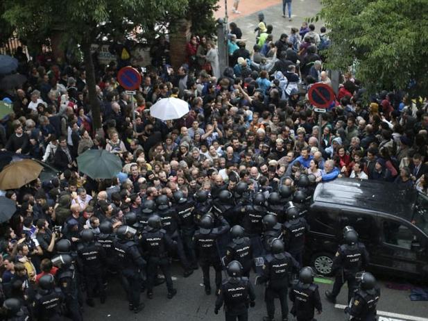 Catalonia Referendum Police Violence October 1st