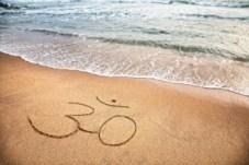 ohm symbol in sand