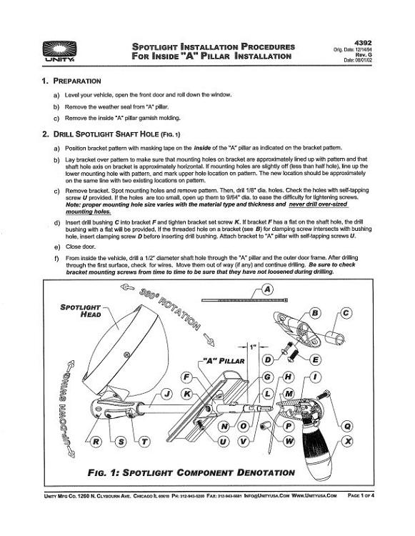 wiring diagram 4 spotlights 1uz vintage spotlight great installation of 3751 crown victoria instructions pdf copy rh unityusa com 12v light industrial diagrams