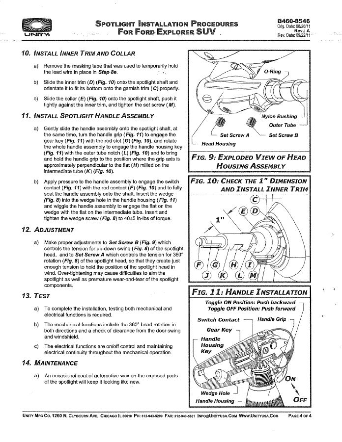 wiring diagram 4 spotlights 2001 chevy silverado 1500 trailer vintage spotlight great installation of 8546 explorer instructions pdf copy rh unityusa com 12v led light