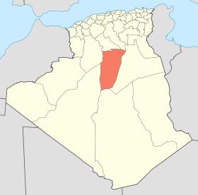 غارداية على خريطة الجزائر