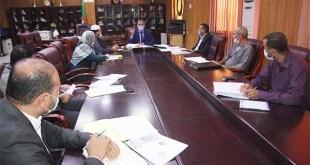 اجتماع مدير جامعة غرداية مع الأمناء العامون للجامعة والكليات