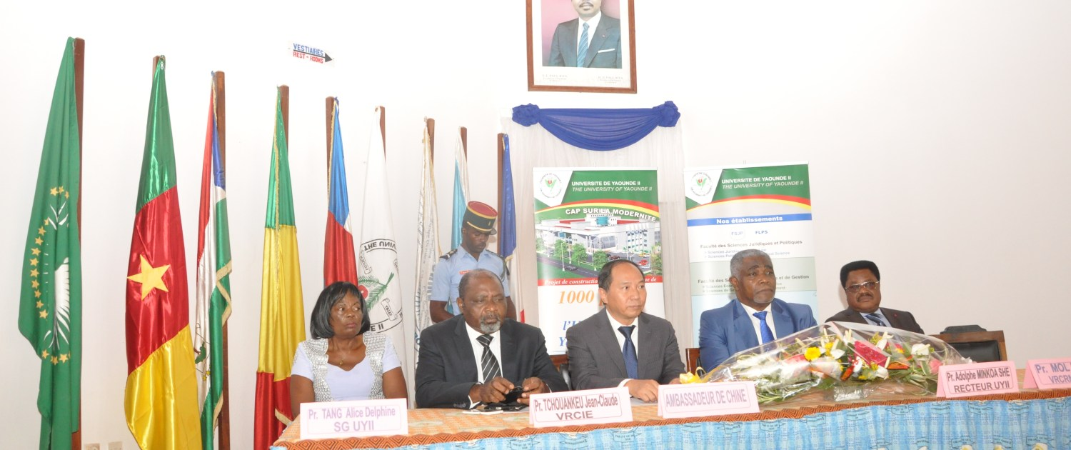 Bourse excellence Chine Universite de Yaounde 2 Soa