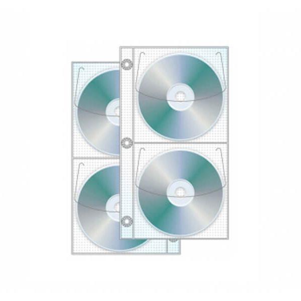 4 Disc Half Binder CD/DVD Page - Box Of 500