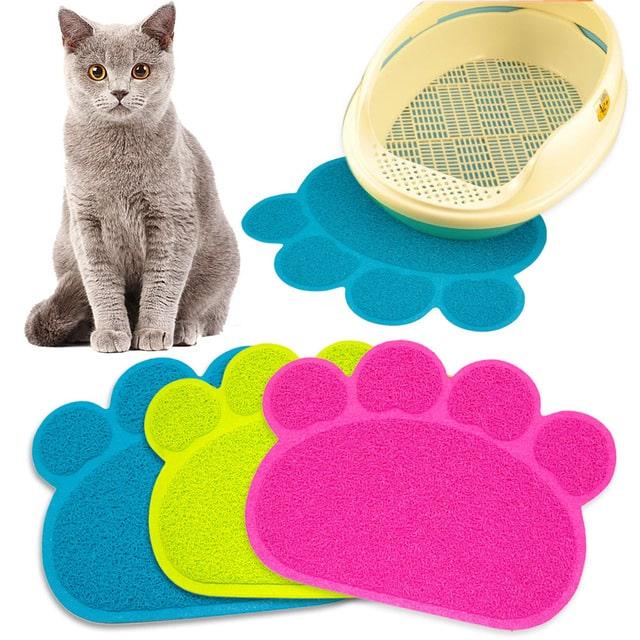 tapis pattes propres pour chat fini la litiere partout