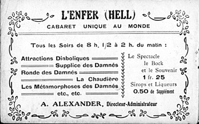 L enfer-billet