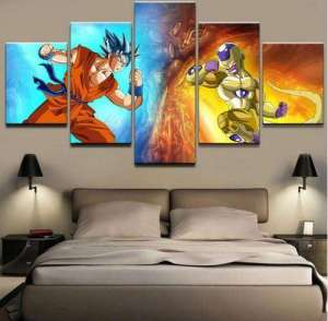 Décoration murale en 5 pièces Dragon Ball Super Goku Vs Golden Freeza