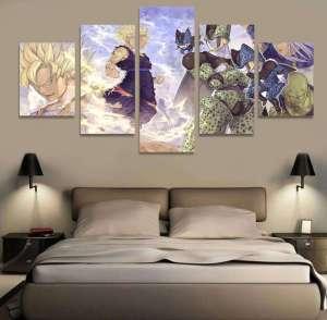 Décoration murale en 5 pièces Dragon Ball Z Cell Arc