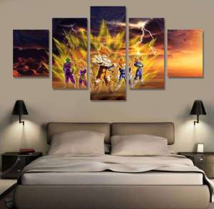 Décoration murale en 5 pièces Dragon Ball Z Freeza Arc