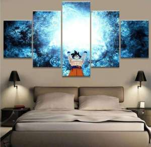 Décoration murale en 5 pièces Dragon Ball Z Goku Genkidama