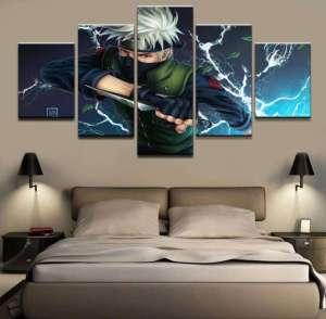 Décoration murale en 5 pièces Naruto Kakashi Fight