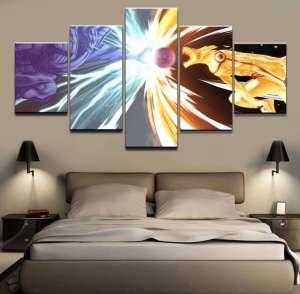 Décoration murale en 5 pièces Naruto Kyubi Vs Susanoo
