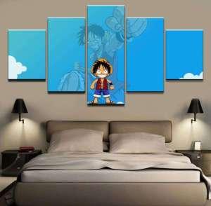 Décoration murale en 5 pièces One Piece Luffy