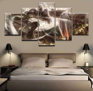 Décoration murale L'attaque des Titans Eren Vs Colossal Titan