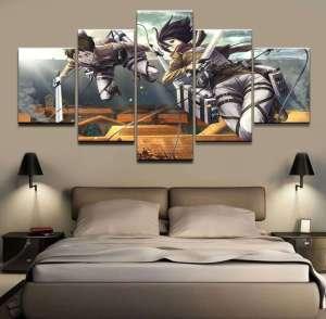 Décoration murale L'attaque des Titans Eren X Mikasa