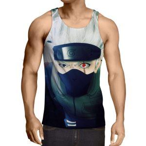 Débardeur 3D All Over Naruto Kakashi Sharingan