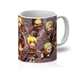 Mug Attack On Titans Chibi