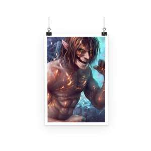 Poster Attack On Titans Eren Titan