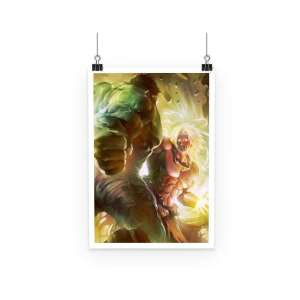 Poster Dragon Ball Z Broly Vs Hulk