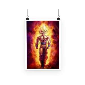 Poster Dragon Ball Z Goku Fire